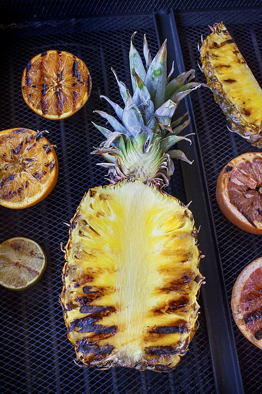 grilled pineapple and other fruit