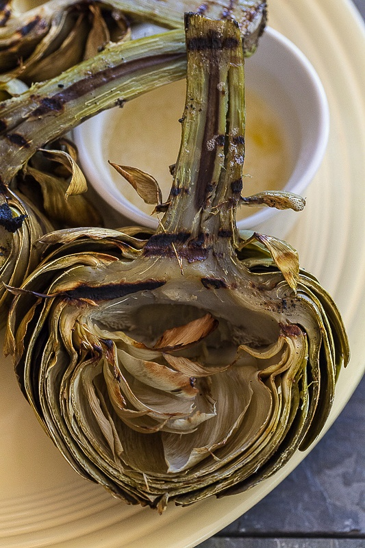 grilled artichokes photo and recipe by Jackie Alpers