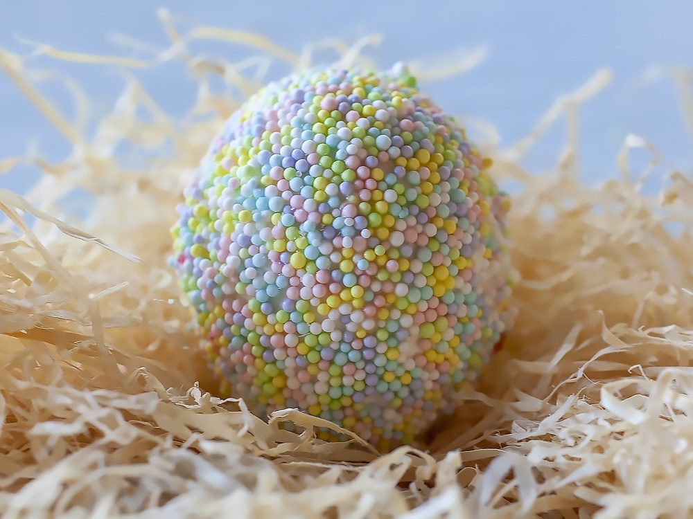 Sprinkles covered Easter Egg photo by Jackie Alpers