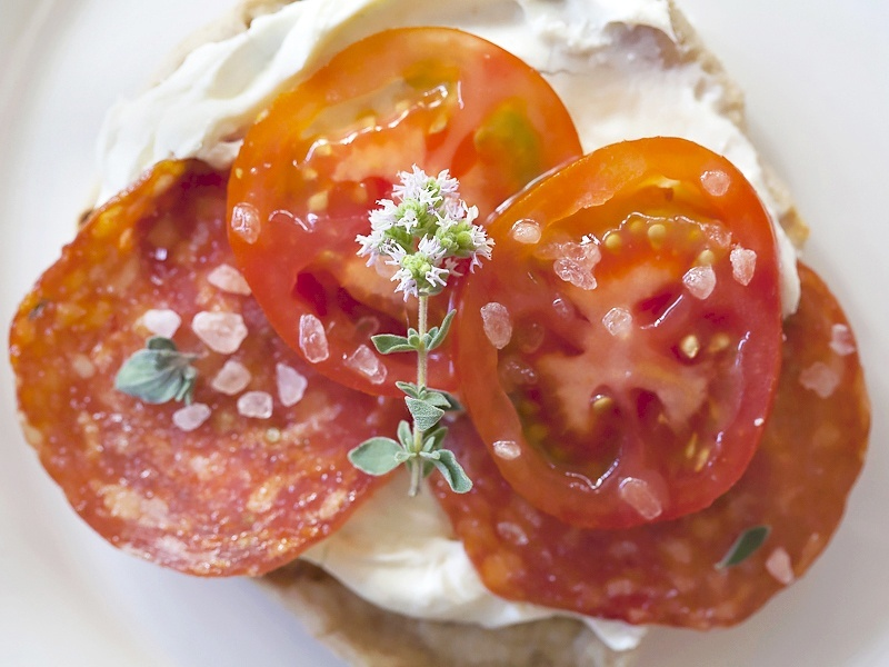 mini pizzas with orgeano flower by Jackie Alpers2