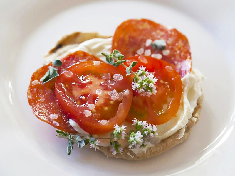 Grilled Mini Pizzas With Edible Flowers