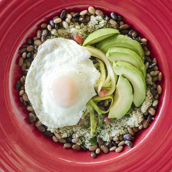 Recipe grain bowl with green quinoa tepary beans and egg forumfinder Choice Image
